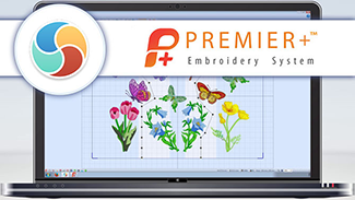 Butterfly Garden Embroidery - 3. View and Save the Split Design